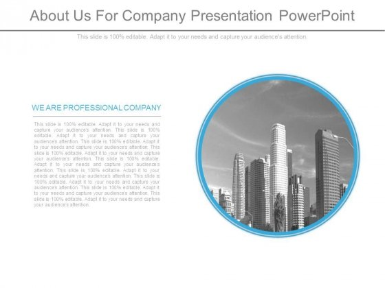 About Us For Company Presentation Powerpoint