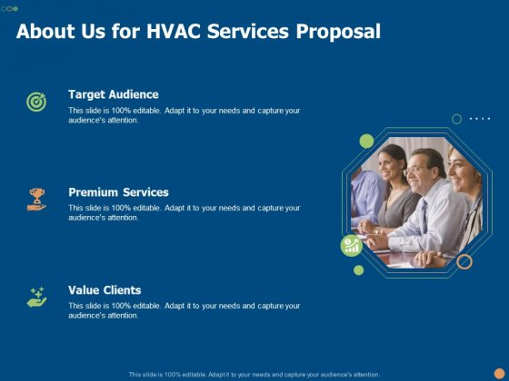 About Us For HVAC Services Proposal Ppt PowerPoint Presentation Slides Graphics Tutorials PDF
