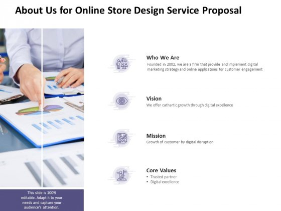 About Us For Online Store Design Service Proposal Ppt PowerPoint Presentation Ideas Smartart