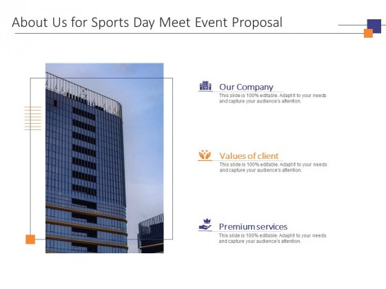 About Us For Sports Day Meet Event Proposal Ppt PowerPoint Presentation Portfolio Themes