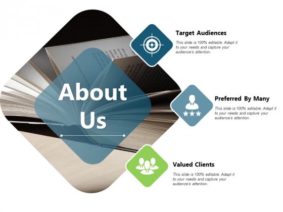 About Us Preferred Target Valued Ppt PowerPoint Presentation Model Shapes
