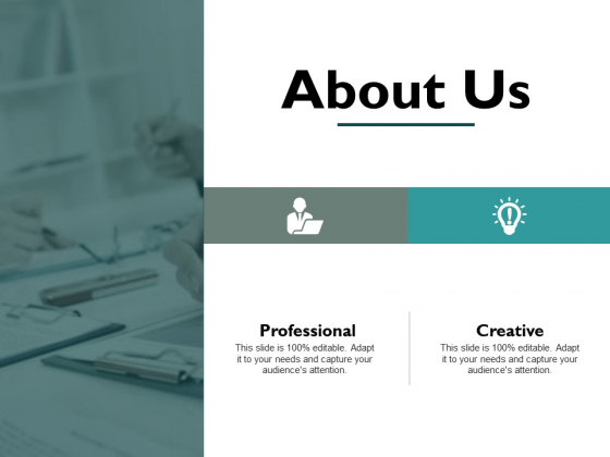 About Us Professional Creative Ppt PowerPoint Presentation Inspiration Example