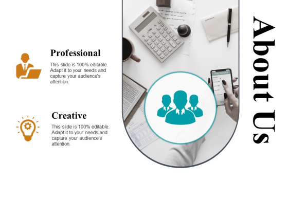 About Us Professional Creative Ppt PowerPoint Presentation Pictures Background Designs