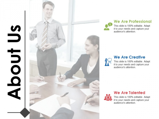 About Us Professional Ppt PowerPoint Presentation File Example