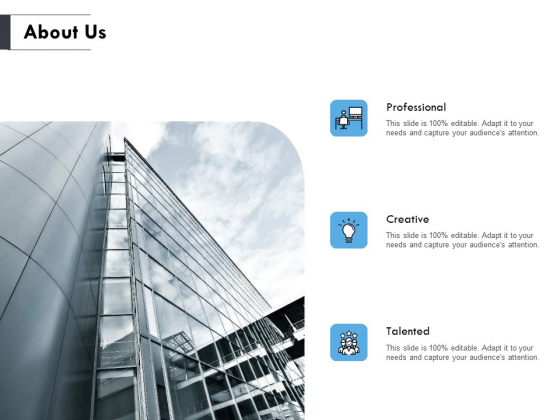 About Us Professional Ppt PowerPoint Presentation Slides Gridlines