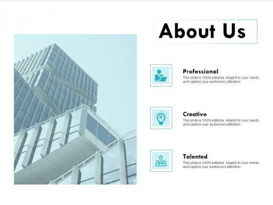About Us Professional Talented Ppt PowerPoint Presentation Portfolio Graphics Template