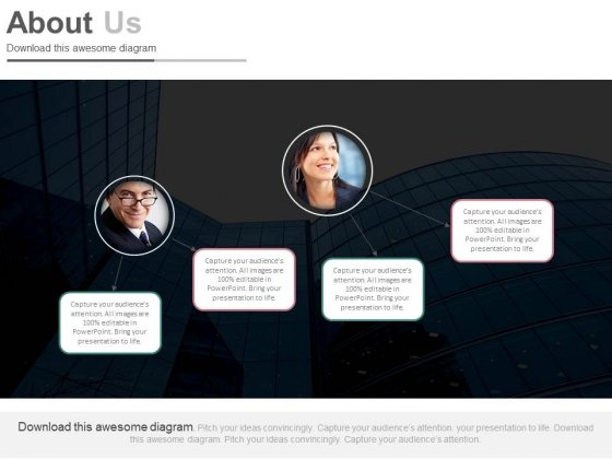 About Us Slide For Business Network Powerpoint Slides