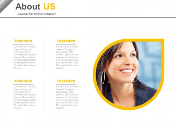 About Us Slide For Business Vision Powerpoint Slides