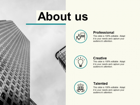 About Us Slide Management Planning Ppt PowerPoint Presentation Pictures