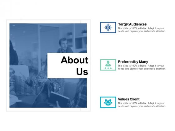 About Us Slide Target Audiences Ppt PowerPoint Presentation Inspiration Mockup