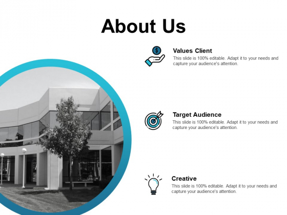 About Us Target Audience Ppt PowerPoint Presentation Diagrams