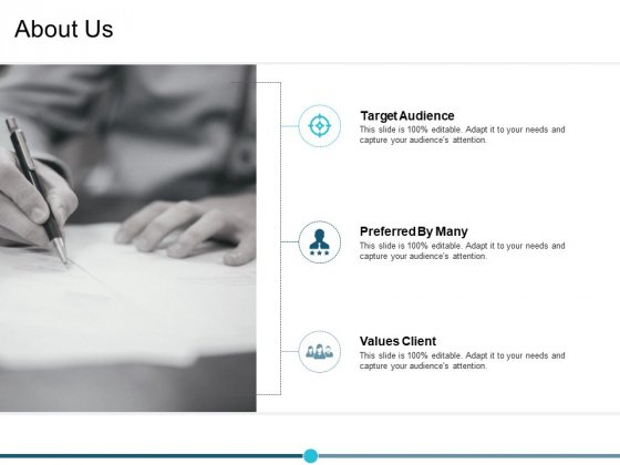 About Us Target Audience Ppt PowerPoint Presentation Outline Deck