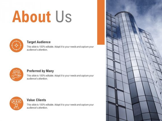 About Us Target Audience Ppt PowerPoint Presentation Pictures Example File