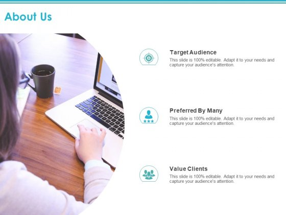 About Us Target Audience Ppt PowerPoint Presentation Pictures Introduction