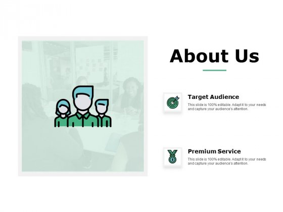 About Us Target Audience Ppt Powerpoint Presentation Pictures Shapes