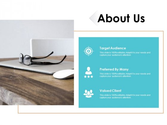 About Us Target Audience Ppt PowerPoint Presentation Portfolio Master Slide