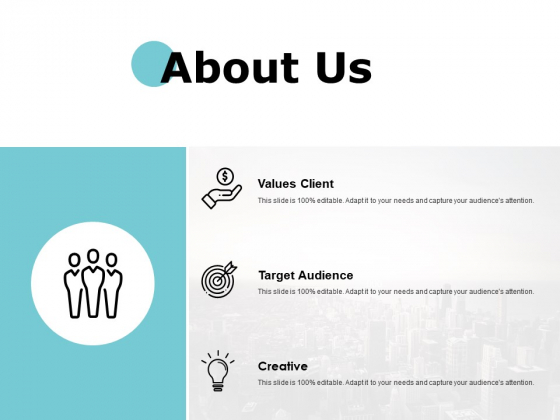 About Us Target Audience Ppt PowerPoint Presentation Styles Backgrounds
