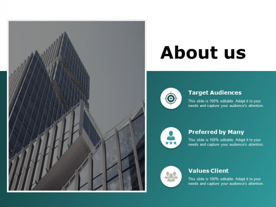 about us target audiences ppt powerpoint presentation gallery model
