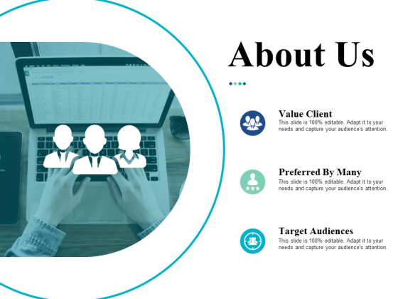 About Us Target Audiences Ppt Powerpoint Presentation Icon Designs Download