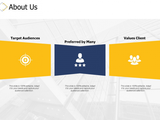 About Us Target Audiences Ppt PowerPoint Presentation Infographic Template Design Inspiration
