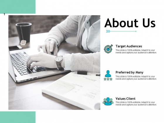 About Us Target Audiences Ppt PowerPoint Presentation Infographic Template Gridlines