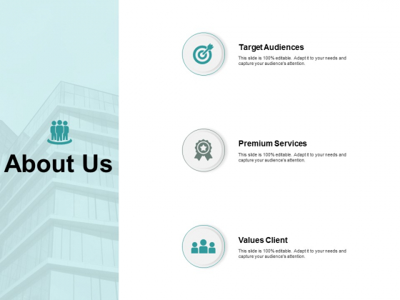 About Us Target Audiences Ppt PowerPoint Presentation Infographics Clipart Images