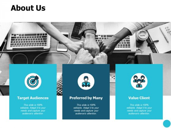 About Us Target Audiences Ppt PowerPoint Presentation Inspiration Grid