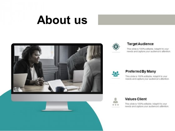 About Us Target Audiences Ppt PowerPoint Presentation Inspiration Guide