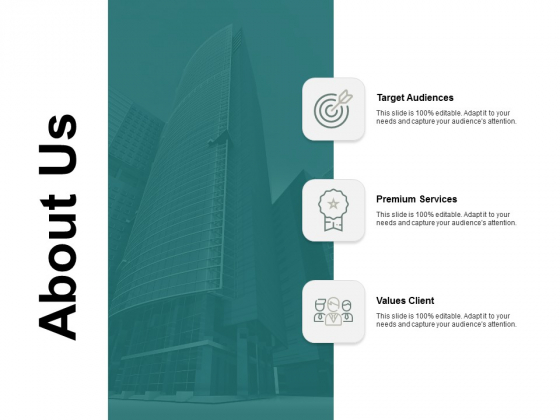 About Us Target Audiences Ppt PowerPoint Presentation Pictures Layout Ideas
