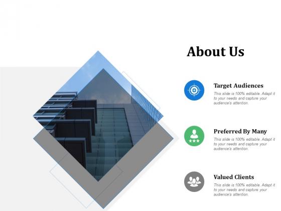 About Us Target Audiences Ppt PowerPoint Presentation Portfolio Backgrounds
