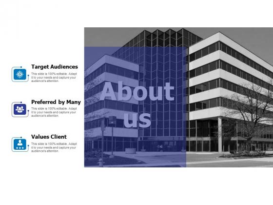 About Us Target Audiences Ppt PowerPoint Presentation Portfolio Tips