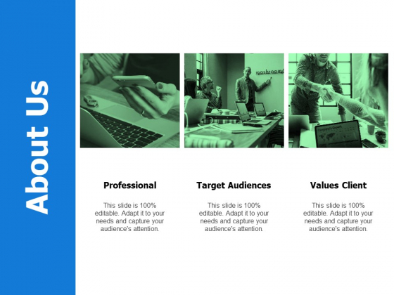 About Us Target Audiences Ppt Powerpoint Presentation Professional Picture