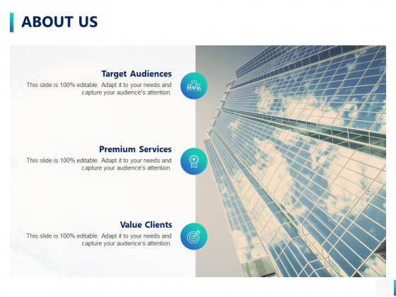 About Us Target Audiences Ppt PowerPoint Presentation Professional Show