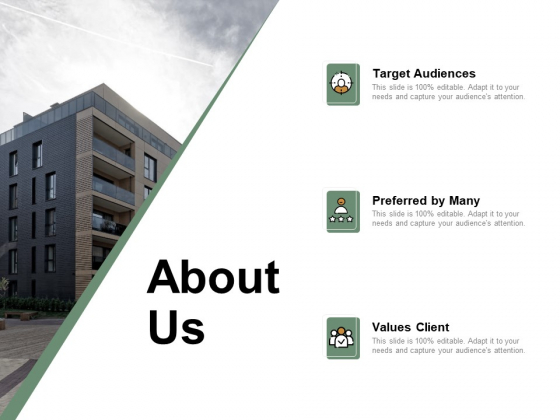 About Us Target Audiences Ppt PowerPoint Presentation Professional Topics