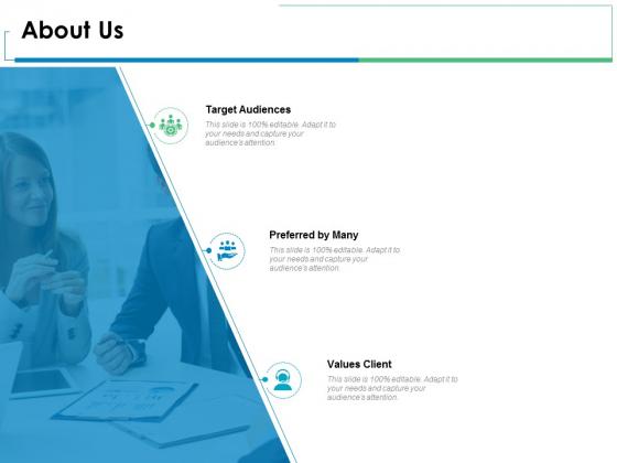 About Us Target Audiences Ppt PowerPoint Presentation Show Clipart