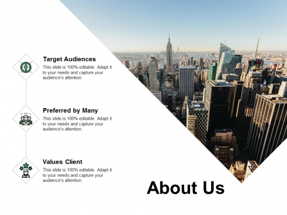 About Us Target Audiences Ppt PowerPoint Presentation Show Pictures