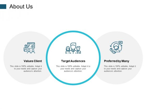 About Us Target Audiences Ppt PowerPoint Presentation Styles Infographics