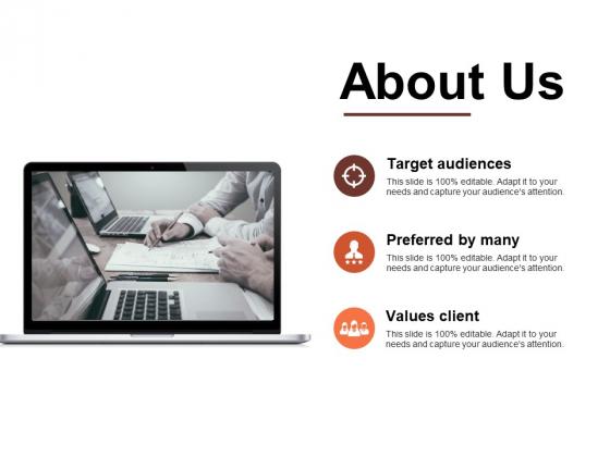 About Us Target Audiences Ppt PowerPoint Presentation Styles Portrait