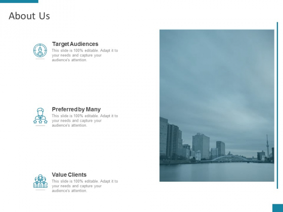 About Us Target Audiences Ppt PowerPoint Presentation Styles Show