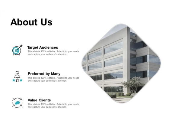 About Us Target Audiences Ppt PowerPoint Presentation Summary Graphics Design