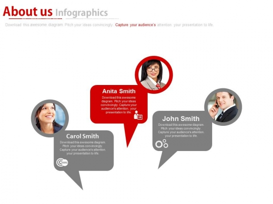About Us With Team Goals Tags Powerpoint Slides