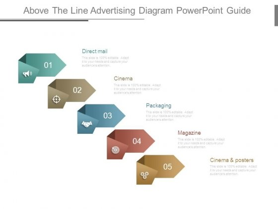 Above The Line Advertising Diagram Powerpoint Guide
