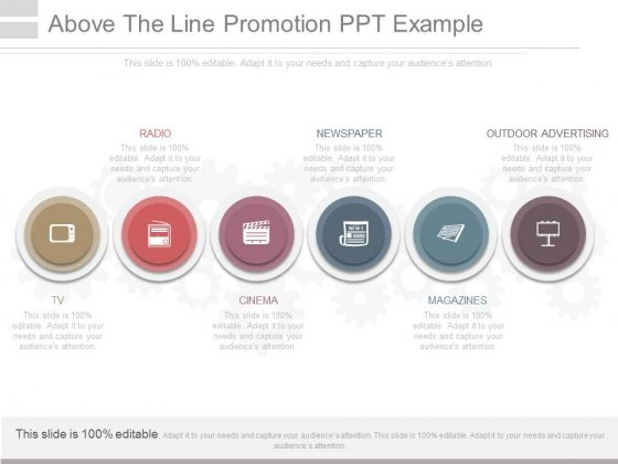 Above The Line Promotion Ppt Example