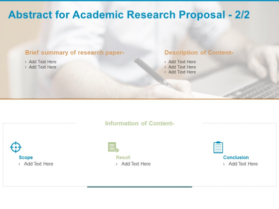 Abstract For Academic Research Proposal Content Ppt PowerPoint Presentation Show Guide