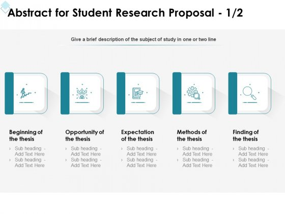 Academic Investigation Abstract For Student Research Proposal Thesis Ppt Portfolio Themes PDF
