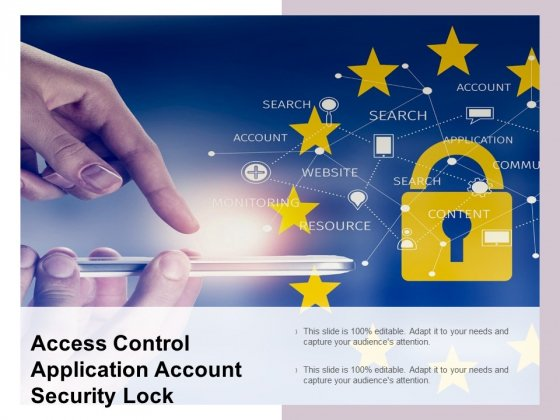 Access Control Application Account Security Lock Ppt PowerPoint Presentation File Slide Portrait