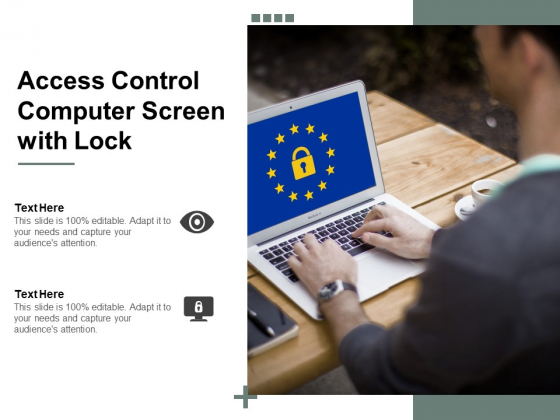 Access Control Computer Screen With Lock Ppt PowerPoint Presentation Ideas Templates