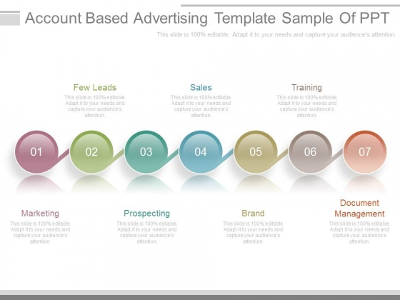 Account Based Advertising Template Sample Of Ppt