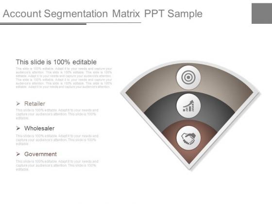 Account Segmentation Matrix Ppt Sample