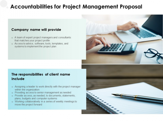 Accountabilities For Project Management Proposal Ppt PowerPoint Presentation Professional Graphic Images